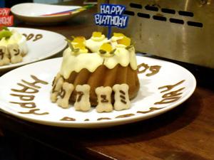 白い小悪魔-お誕生日ケーキ
